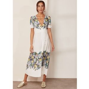 Free People Floral Jaimie Midi Wrap Dress